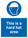 hard hat symbol Text: this is a hard hat area