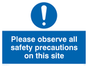 exclamation symbol Text: please observe all safety precautions on this site