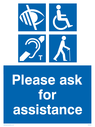 please-ask-for-assistance-sign-visually-impaired-aurally-impaired-wheelchair-eld~