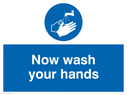 <p>Now wash your hands withsymbol</p> Text: now wash your hands