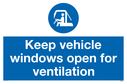 keep-vehicle-windows-open-for-ventilation-sign-~