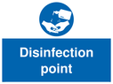 <p>Disinfection point</p> Text: