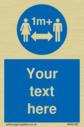 <p>1M+ Social Distance </p> Text: