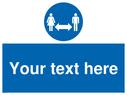 <p>Social Distance</p> Text: