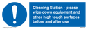 cleaning-station--please-wipe-down-equipment-and-other-high-touch-surfaces-befor~