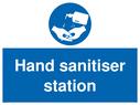 <p>Hand sanitiser station</p> Text: