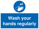 <p>Wash your hands regularly</p> Text: