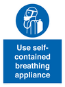 <p>Use self-contained breathing appliance</p> Text: