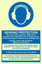 ear protection symbol Text: hearing protection