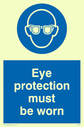<p>eye protection symbol</p> Text: eye protection must be worn