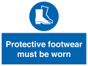 boots symbol Text: protective footwear must be worn