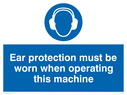 protective suit symbol Text: protective clothing must be worn