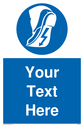 Custom Anti-static Footwear Sign. Add your own custom text. Normal delivery times apply. Blue Anti-static Footwear Symbol. This symbol and sign layout complies with new EN7010 legislation that governs safety signs. Text: Your text here - just add to your order and fill in the 'special instructions' box at the basket to confirm your required text.