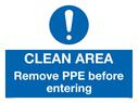 clean-area-remove-ppe-before-enteringnbspwith-mandatory-symbol~