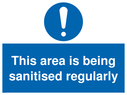 <p>This area is being sanitised regularly</p> Text: