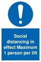 social-distancing-in-effect-maximum-1-person-per-lift-sign-~