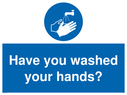 <p>Have you washed your hands?</p> Text: