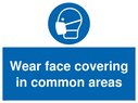 <p>Wear face covering in common areas</p> Text:
