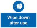 <p>Wipe down after use</p> Text: