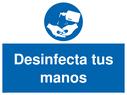 <p>Desinfecta tus manos</p> Text: