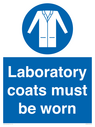 <p>Laboratory coats must been worn</p> Text: