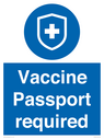 <p>Vaccine Passport required</p> Text: