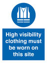 <p>High visibility clothing must be worn on this site</p> Text: