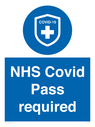 <p>NHS Covid Pass required</p> Text: