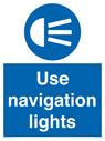 <p>Use navigation lights</p> Text: