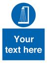 <p>Custom mandatory shower before entering</p> Text:
