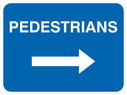 arrow right Text: pedestrians