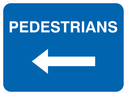 arrow left Text: pedestrians