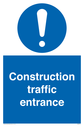 construction-traffic-entrance-with-exclamationnbspsymbol-in-blue-circle~