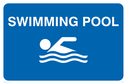 man swimming Text: swimming pool