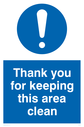 thank-you-for-keeping-this-area-clean-sign-~