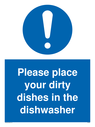 please-place-dirty-dishes-in-dishwasher-sign-~