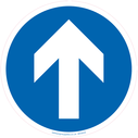 <p>Mandatory direction arrow only floor graphics</p> Text: Mandatory direction arrow only floor graphics
