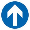 <p>Mandatory directionarrow only floor graphics</p> Text: Mandatory direction arrow only floor graphics