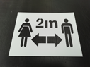 <p>2m social distance symbol - re-usable floor graphic stencil</p> Text: 2m symbol only