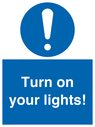 <p>Turn on your lights!</p> Text: