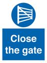 <p>Close the gate</p> Text: