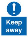 <p>Keep away</p> Text: