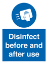 <p>Disinfect before and after use</p> Text:
