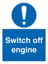 <p>Switch off engine</p> Text: