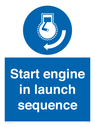 <p>Start engine in launch sequence</p> Text: