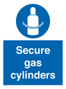 <p>Secure gas cylinders</p> Text: