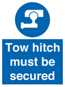 <p>Tow hitch must be secured</p> Text: