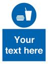 <p>Custom mandatory eat and drink</p> Text: