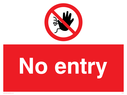 <p>No entry with no access prohibition symbol</p> Text: no entry
