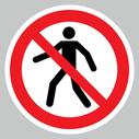 <p>No pedestrianssymbol only floor graphics</p> Text: No pedestrians symbol only floor graphics